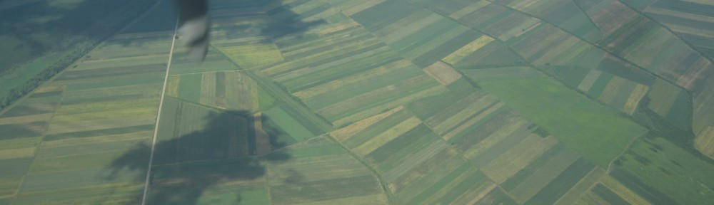 Patchwork farms over Srbjia